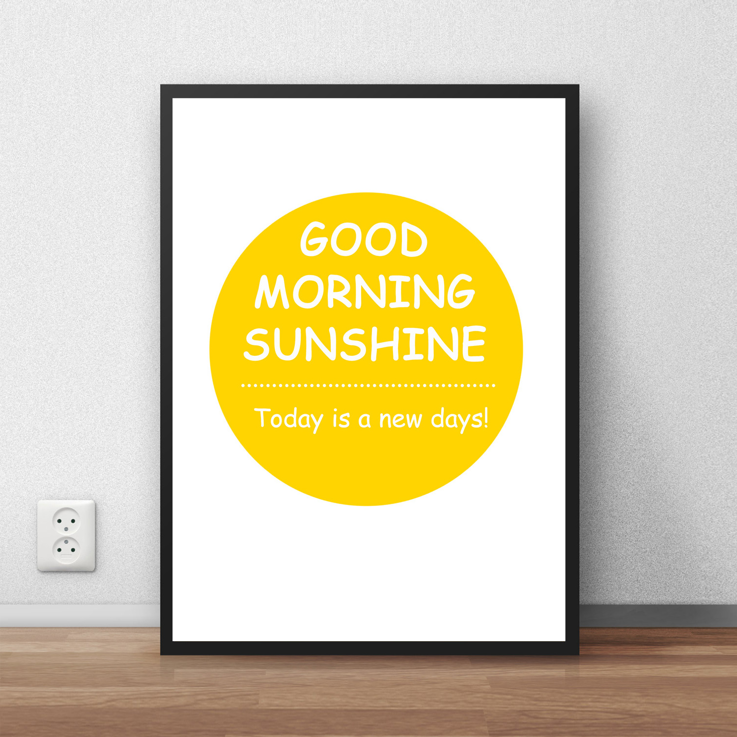 GOOD MORNING Slogan Chart Classic Vintage Poster Retro Kraft PaperAntique RETRO Wall Sticker Living Room HOUSE Decor BAR CAFE