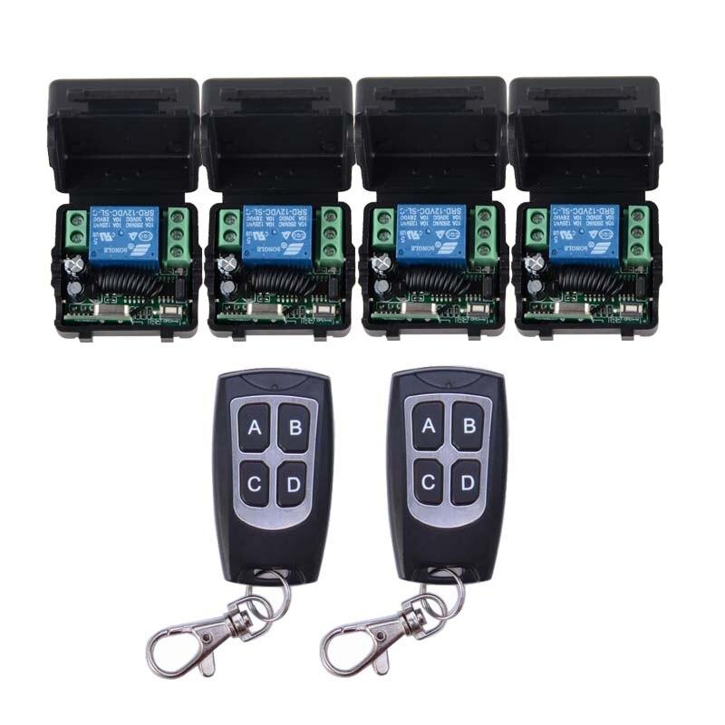 12 V 1 CH Sistema de Iluminación Interruptor de Control Remoto Inalámbrico 2 Tra
