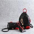national Style Women Backpack PU Leather Backpack School Bags For Teenagers Female Multifunction Bagpack fashion 2016 Mochila