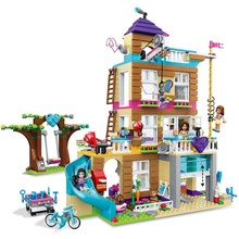 Girl Series 37077 808pcs Compatible with Friends 41340 Friendship House figures toys for girls children building blocks friends series princess palace house building blocks compatible legoed figures friend for girls construction toy for children