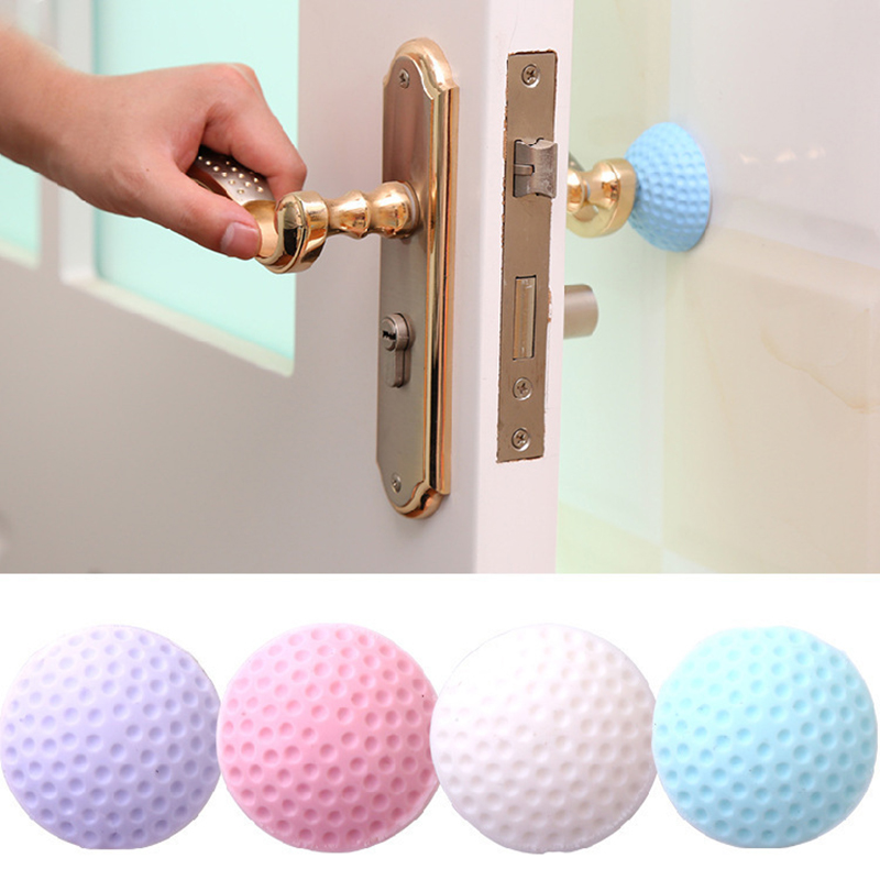 2pcs Creative Wall Thickening Mute Door Protective Pad Fenders Rubber Fender Handle Wall Stick Home Decor Orders Are Welcome.