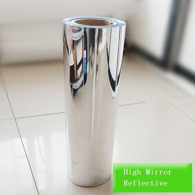 0.1, 0.2, 0.15mm alta luz reflectante Películas pegatina espejo impermeable autoadhesivo UV reflectante Películas aislamiento de calor opaque Películas