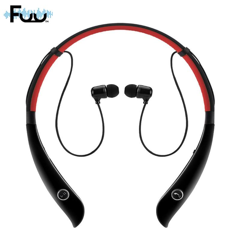 Music Stereo Headset Bluetooth 4.0 + EDR Earphone Sweat-proof HV-930 Wireless Headphone Neck-strap Outdoor Sport Earphone w/ Mic