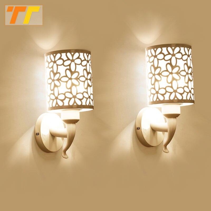 2 Stücke Wandleuchten Innen Schlafzimmer Einfachen Stil Wandleuchten Wandleuchte Lampe Bettwäsche Lampe Luminaria Kreative Treppe Wohnzimmer KöStlich Im Geschmack