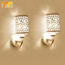 2pcs Wall Lamps Indoor Bedroom Simple Style Wall Sconces Wall Light Lamp Bedding Lamp Luminaria Creative Staircase Living Room