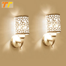 2pcs Wall Lamps Indoor Bedroom Simple Style Wall Sconces