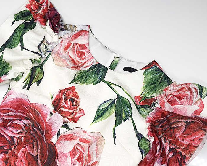 Truevoker летнее дизайнерское платье женские высокого качества красочные пионы с цветочным принтом плюс размер 2XL Vestido