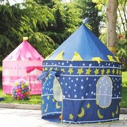 Портативная Пляжная палатка синего/розового цвета, складная палатка Tipi, игрушка для кемпинга, детский замок, игровой домик для детей, лучший...