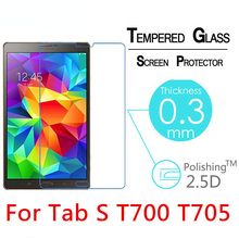 цена на 2.5D Explosion-Proof Toughened Tempered Glass For Samsung Galaxy Tab S 8.4 T700 T705 8.4