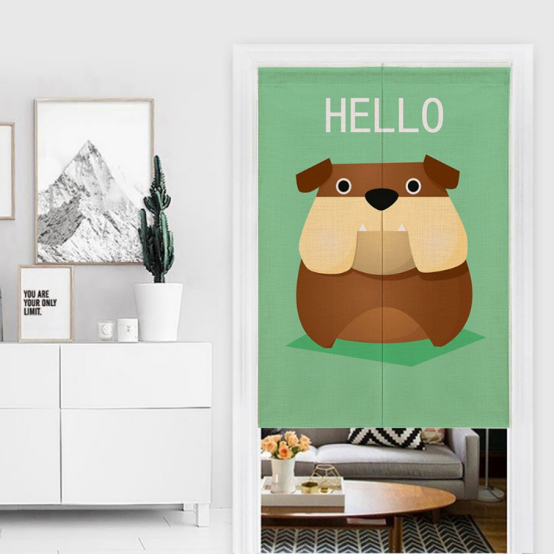 Image 4 - For Home Decoration Cartoon Animal Printed Cotton And Linen Japanese Style Noren Doorway Curtain Hanging Tapestry-in Window Screens from Home & Garden