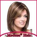 Медуза продукты волос: синтетические пастель парик для женщин Средней Длины прямой Сочетание цветов боб стили Моно парики с челкой SW0010C