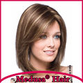 Medusa hair products: synthetic pastel wig for women Medium length straight Mix color bob styles Mono wigs with bangs SW0010C
