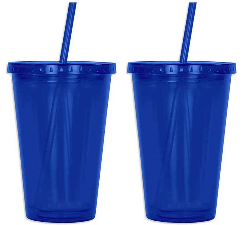 Us 478 0 Whole 100pcs 16 Oz Double Wall Plastic Tumblers With Straw And Lid Customize Logo In Mugs From Home Garden On Aliexpress