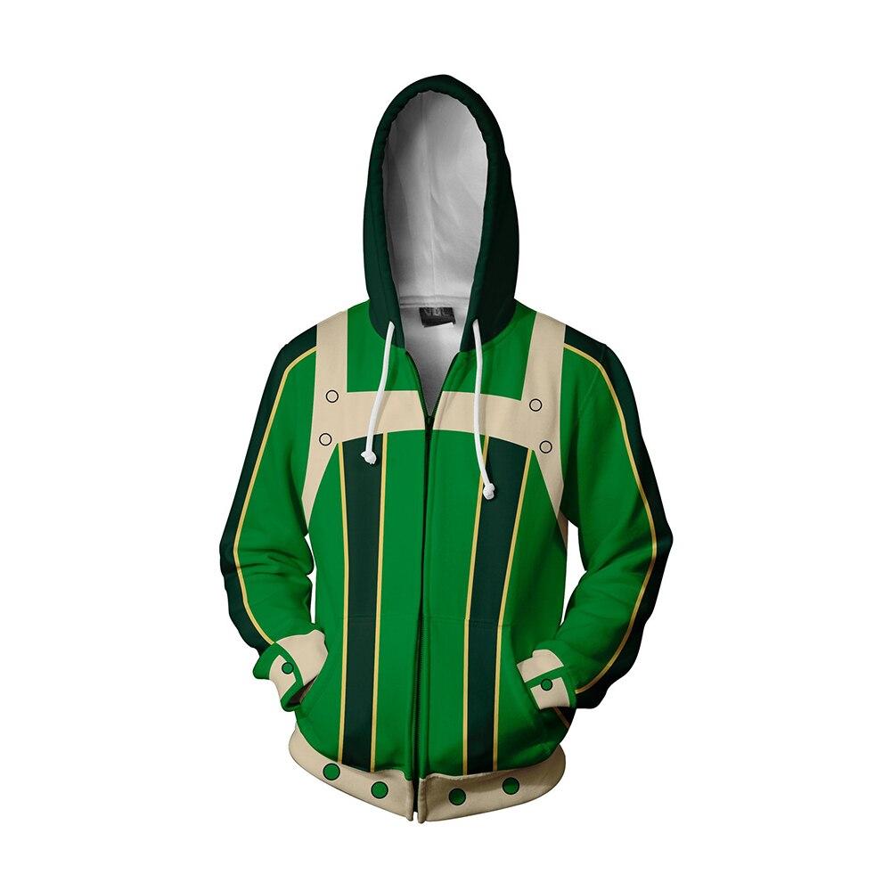 My Hero Academia Cosplay Hoodies Bakugou Katsuki Sweatshirt Men Adults Zipper Hooded Coat Hip Hop Streetwear Warm Tops