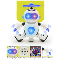 Space Dancing Robot Electric Model Rotate 360 Degrees Light Music Model Robot Toys For Children Birthday Christmas Gift