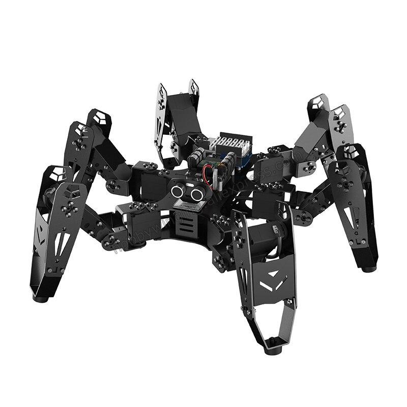 18 DOF алюминиевый Hexapod Паук Робот/вторичного развития комплект bionic паук программируемый образование робот Совместимость Arduino