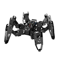 18 DOF Aluminium Hexapod Spider Robot /Secondary Development Kit bionic spider programmable Education Robot compatible Arduino