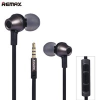 Remax Rm 610d 3 5mm Plug Earphone In Line Control Stereo Headsets In Ear Earphone HiFi