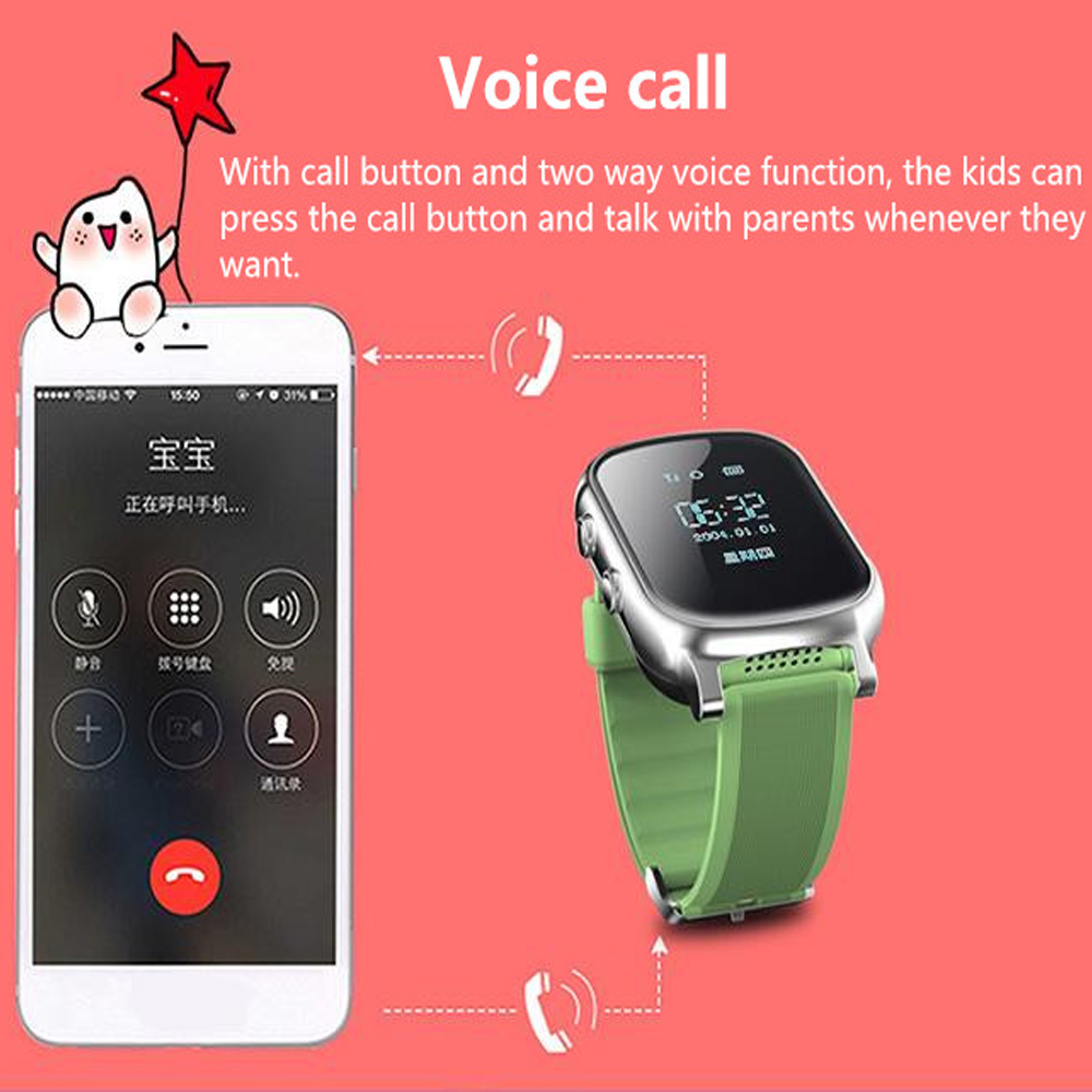 Image 5 - T58 Smart Watch GPS Wifi Smart Tracker Antil lost Baby Fitness Tracker SOS Children Smartwatch Student Kids Smartwatch.-in Smart Watches from Consumer Electronics