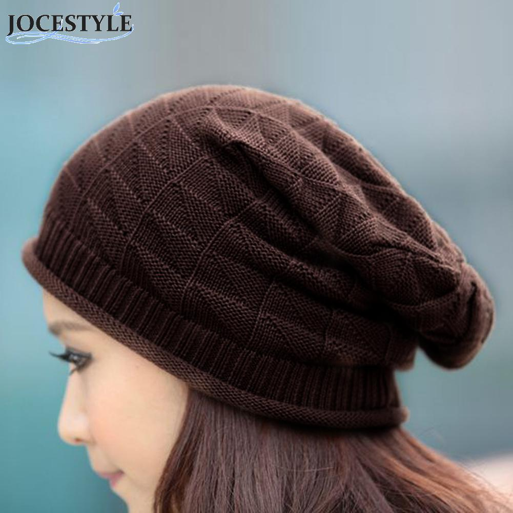 Women Winter Baggy Beanie Knit Crochet Oversized Slouch Cap Snow Hat skullies casual outdoor ski caps Soft warm hats winter casual cotton knit hats for women men baggy beanie hat crochet slouchy oversized ski cap warm skullies toucas gorros 448e