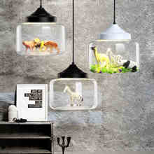 Modern glass Pendant light restaurant bar cafe creative animal models decorative suspension lamp dining room child room lighting
