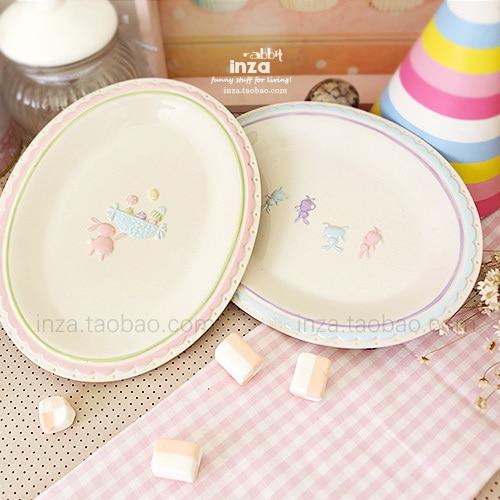 Easter bunny ceramic childish cute style Western dish plate dish plate dinner  sc 1 st  AliExpress.com & Cacalia Nana sauce. Easter bunny ceramic childish cute style Western ...