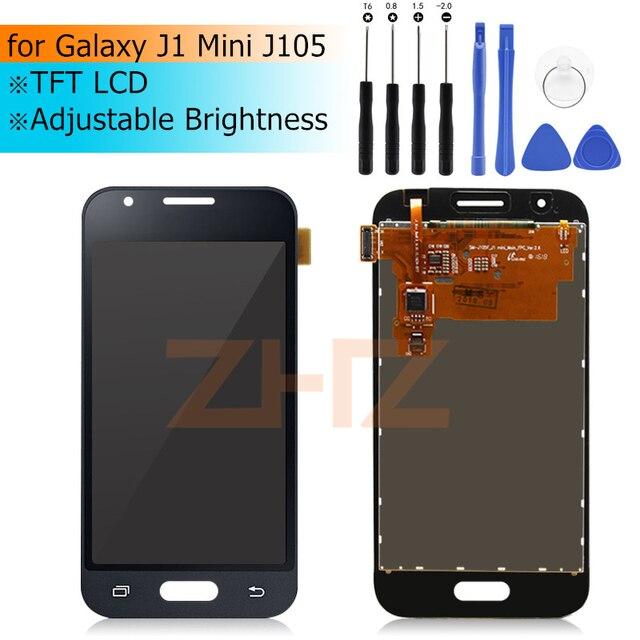 Samsung GALAXY J1 Mini J105 dokunmatik lcd ekran Ekran lcd Digitizer pantalla Meclisi için GALAXY J1 Ekran Onarım Parçaları