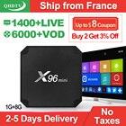 IPTV France QHDTV 1 Year Code X96 Mini Android 7.1 TV BOX S905W X96Mini IPTV Belgium French Netherlands Arabic IPTV Subscription