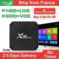 IP tv Франция QHD tv 1 год код X96 Мини Android 7,1 tv BOX S905W X96Mini IP tv Бельгия голландский арабский Франция IP tv подписка