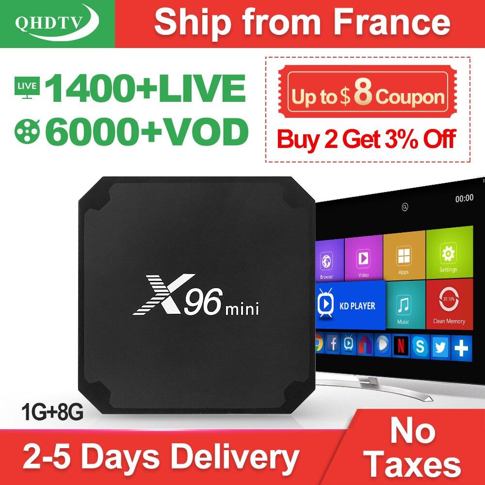 IPTV France QHDTV 1 Year Code X96 Mini font b Android b font 7 1 TV