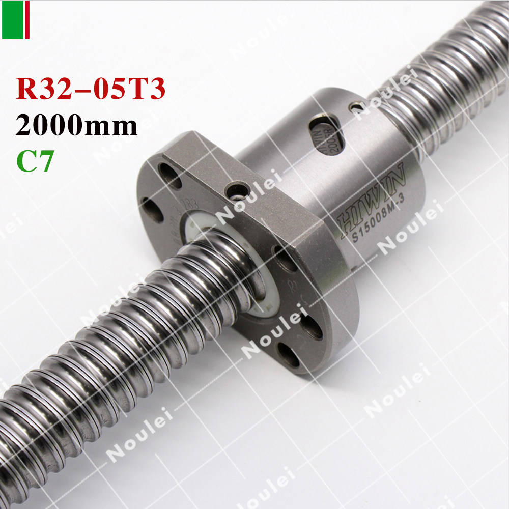 HIWIN R32-05T3-FSI C7 Ball Screw Rolled ballscrew 2000mm with and end machined for high stability linear CNC diy kit