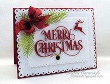 Merry Christmas Reindeer Metal Cutting Dies Stencils DIY Scrapbooking Album Paper Cards Craft Embossing Word