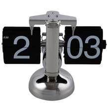 Черный Ретро Флип-часы-внутренний механизм флип-часы для дома США Доставка