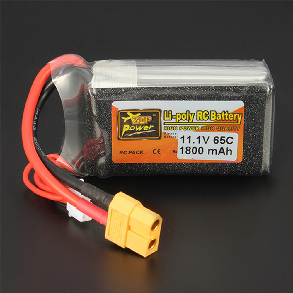 ZOP Power LiPo Battery 11.1V 1800mAh 65C 3S Lipo Battery XT60 Plug For RC Quadcopter Drone Helicopter Car Airplane