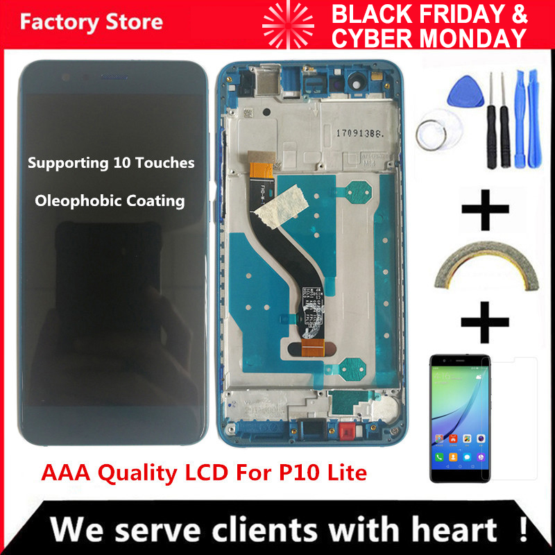 5.2 Inch AAA Quality LCD With Frame For HUAWEI P10 Lite Lcd Display Screen For HUAWEI P10 Lite WAS-LX1 WAS-LX1A WAS-LX2 WAS-LX3(China)