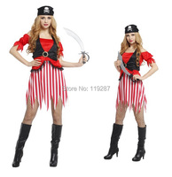 Shanghai Story NEW Halloween Costumes women's stage uniforms Sexy cosplay Costumes Exotic Apparel Pretty Pirate Costumes
