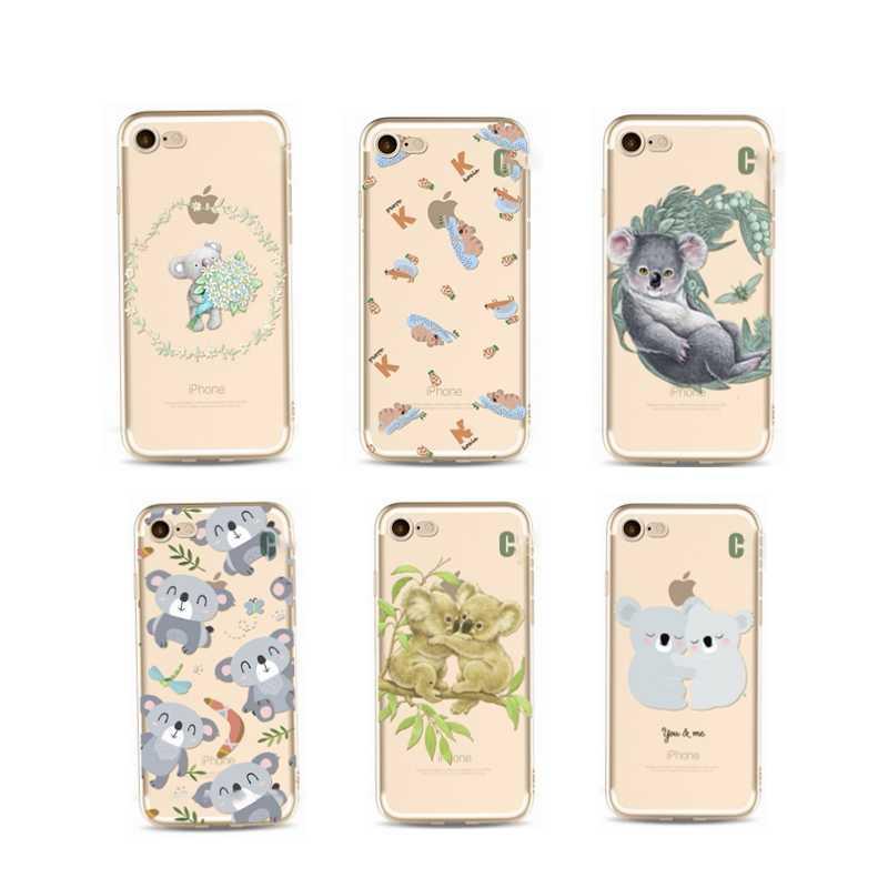 Милый Животные чехол для iPhone X 6s 6 S 7 8 плюс мягкая термополиуретановая накладка на заднюю панель Kawaii панда собака, коала чехол с рисунком в армейском стиле для iPhone 6s Капа