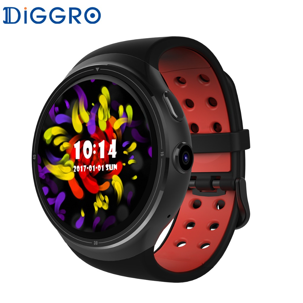 Diggro DI06 Smart Watch Phone With SIM Card Camera GPS MTK6580 Android 5.1 Bluetooth WIFI Men Smartwatch Connect For iphone celiadwn smart watch android 5 1 smartwatch phone 3g mtk6580 512mb 4gb with 2 0 camera wifi gps sim card clock vs x200 dm98