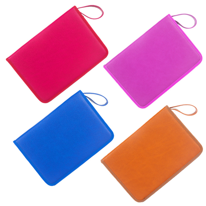 Image 5 - 72 Holes PU Leather Pencil Case Cute Kawaii Folding Multi Penal Pencilcase Professional Big Pen Bag Box Office Stationery Pouch-in Pencil Cases from Office & School Supplies