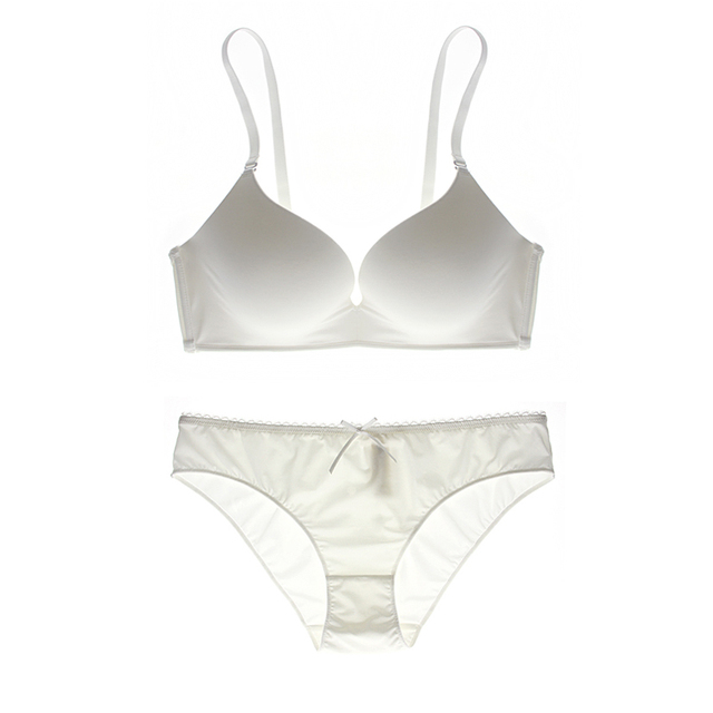 Summer style seamless lace bra and brief sets beauty back pack comfortable women wireless women underwear suit big size 32-40 BC