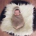 2016 nova cor sólida falso pele de cobertor de Stuffer mongólia pele recém-nascido fotografia adereços