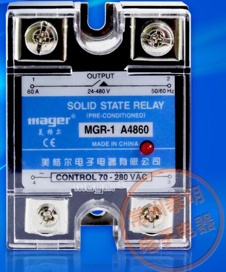 mager Genuine new original SSR Single-phase solid state relay 60A MGR-1 A4860 AC control AC 220VAC-AC ssr mgr 1 d4860 meike er normally open type single phase solid state relay 60a dc ac