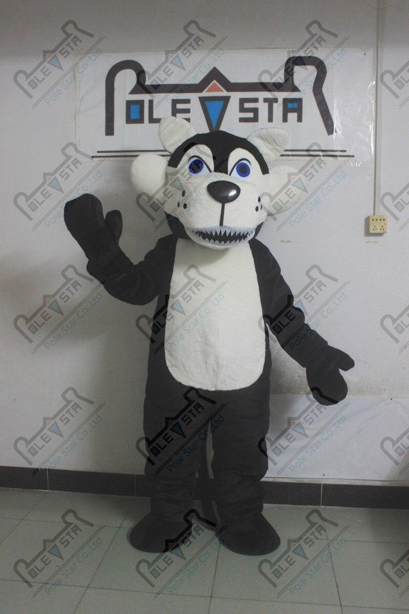 Peluche matériaux loup mascotte costumes offre spéciale EVA tête qualité loup chien costumes NO2729