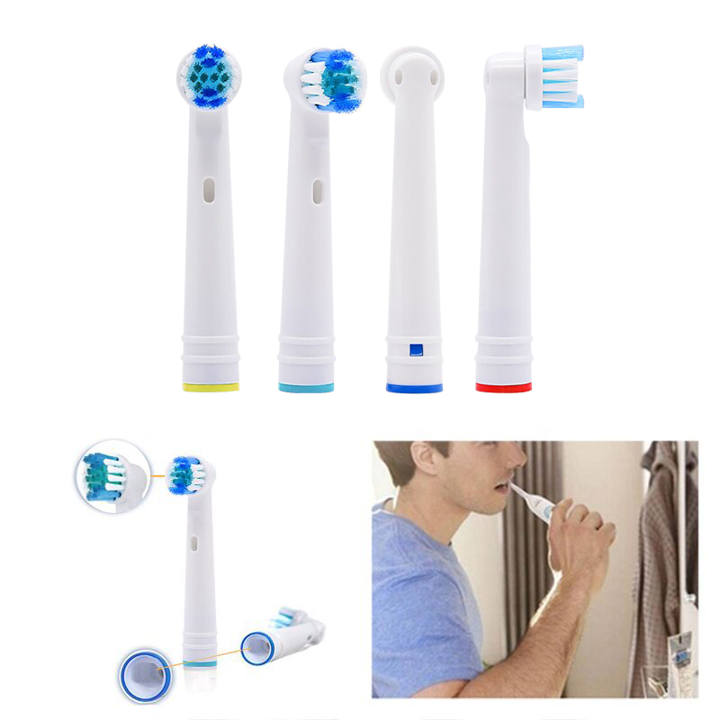 Generic Replacement Electric Toothbrush Head Compatible With All Oral B Rotation Type Electric Teeth Brush With Round Head image