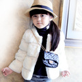 High Quality 2017 New Girls Coat Kids Autumn Winter Jackets Warm Coat For Children Outerwear Cotton Cardigan Fur Jacket