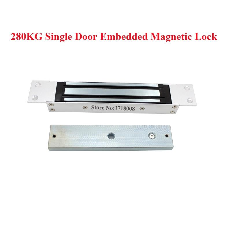 bilder für M280A Zugangskontrolle Türöffner Elektromagnetische Verriegelung 600lbs Magnetverschluss 280 kg Haltekraft 12VDC Embedded Montieren
