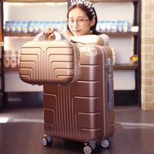 trend suitcase units 13+24 inch baggage, common wheels rolling baggage, ladies boarding luggage, spinner suitcase with lock