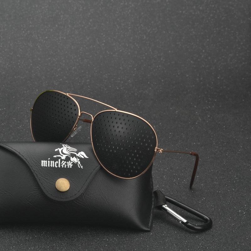 Black Unisex Vision Care Pin Hole Eyeglasses Pinhole