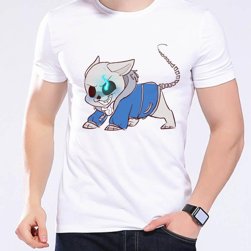 Hot Sale Game Undertale T-shirt Unisex Casual Cartoon Creative Boy Top Tees High Quality Angry Kawaii Dog Design Men Tee L1-D24