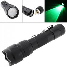 LED Zoom Flashlight Tourch 502B 18650 Mini Green Light XML T6 LED 1200 Lumen Waterpproof for Fishing Hunting Camping Cycling led flashlight tourch 10w xml l2 led usb flashlight handheld bracket light 3 modes for drilling camping hunting night fishing